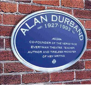 Alan Durband commemorative plaque - Everyman Theatre, Liverpool England